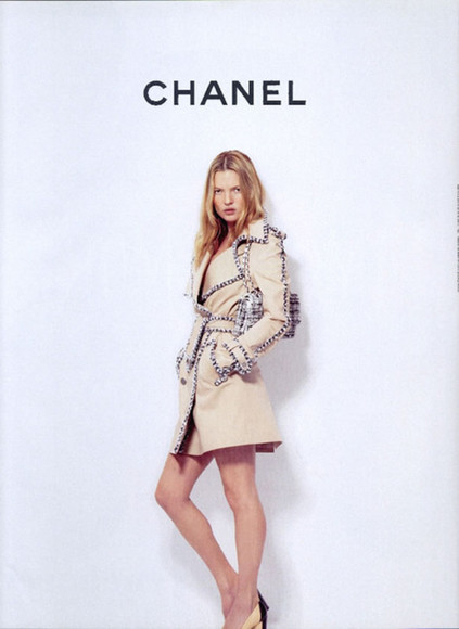kate moss coat chanel celebrity model