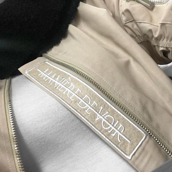 jacket maniere de voir bomber jacket beige jacket beige nude flight jacket 36683