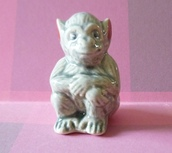 home accessory,animal ceramic,miniature animal,miniature monkey,mini monkey,dollhouse,miniatures,monkey ceramic,monkey statue,statue,fake animal