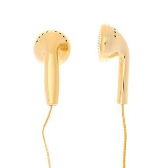 earphones claire's gold