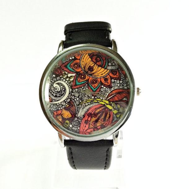 jewels paisley watch watch handmade etsy style