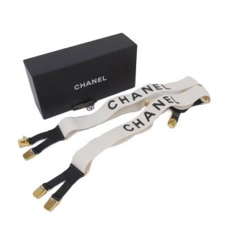 Chanel: Vintage Chanel C H A N E L White Suspenders Accessory. | MALLERIES