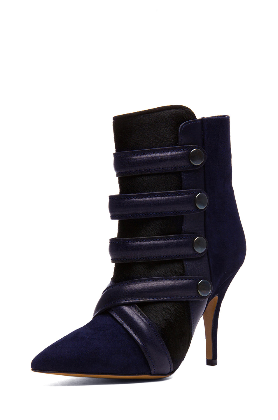 Isabel Marant|Tacy Pony Booties in Midnight