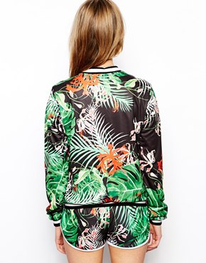 ASOS | ASOS Bomber Jacket in Tropical Print at ASOS