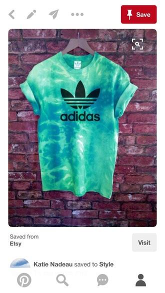 shirt tie dye adidas