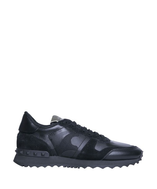 Valentino Garavani camouflage sneakers leather shoes
