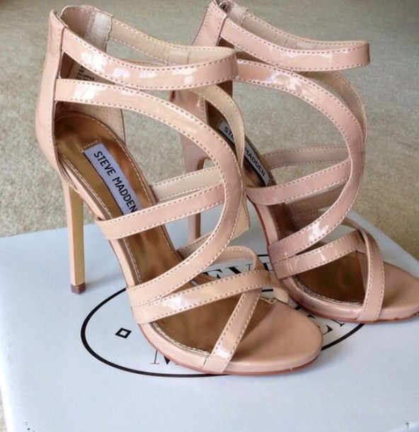 shoes steve madden cream high heels