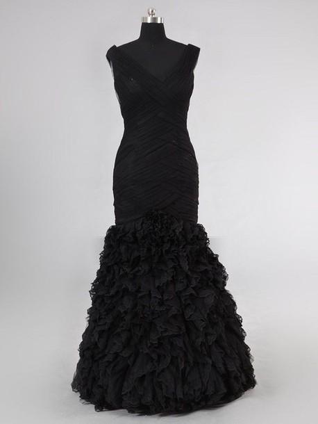 dress イブニングドレス vネック フロアレングス