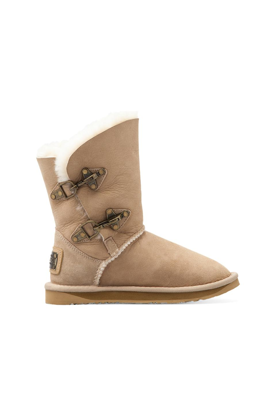 Australia luxe collective renegade short boot with sheep shearling in sand from revolveclothing.com