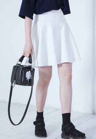 skirt leather look leather look mini skirt
