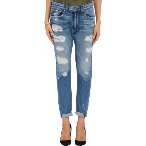 Tortoise jeans distressed testudo 4016 jeans at barneys.com