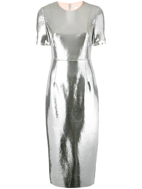 dress sequin dress women spandex grey metallic