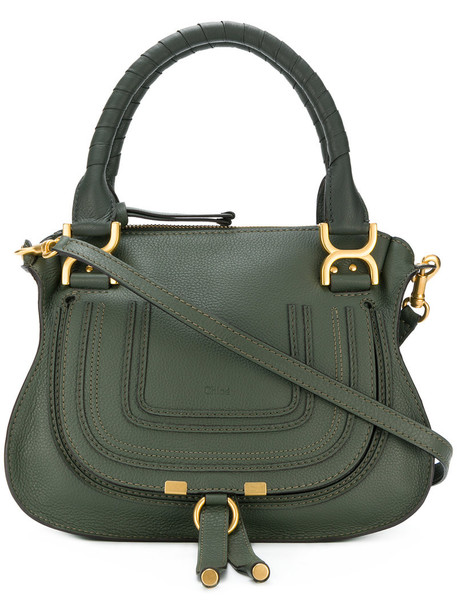 Chloe women bag tote bag leather cotton green