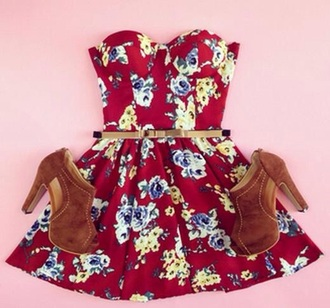 dress style shoes sundress floral dress booties