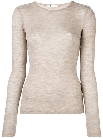 t-shirt shirt knit nude top