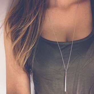 jewels charm necklace gold lariat necklace bar necklace necklace cute