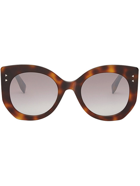 women plastic sunglasses brown