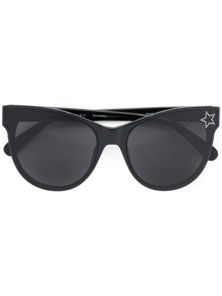 Stella Mccartney Eyewear - cat eye sunglasses - women - Acetate - 61, Black, Acetate
