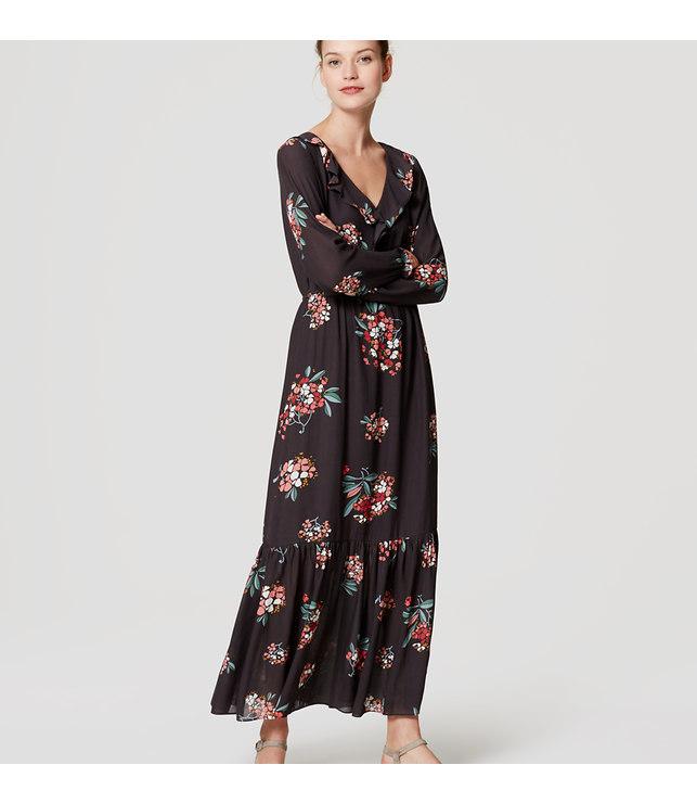 Loft black maxi dress