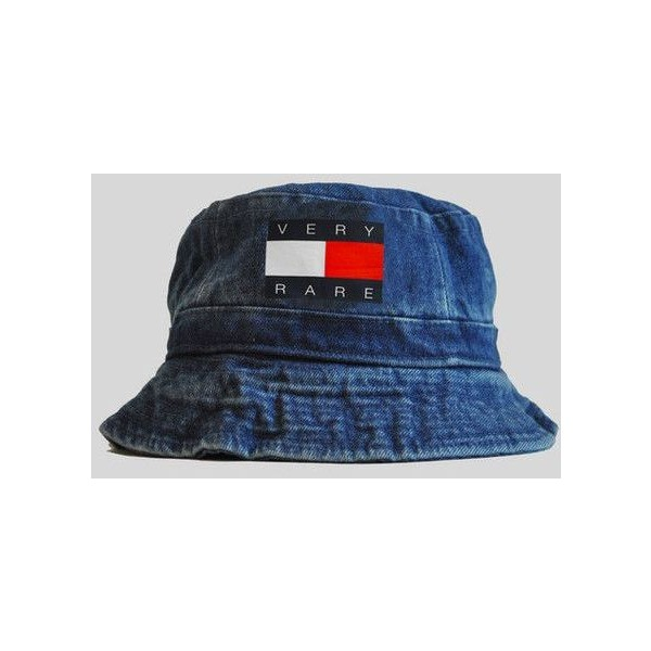 Very Rare Tommy Denim Bucket Hat | KYC Vintage ($8.00) - Polyvore