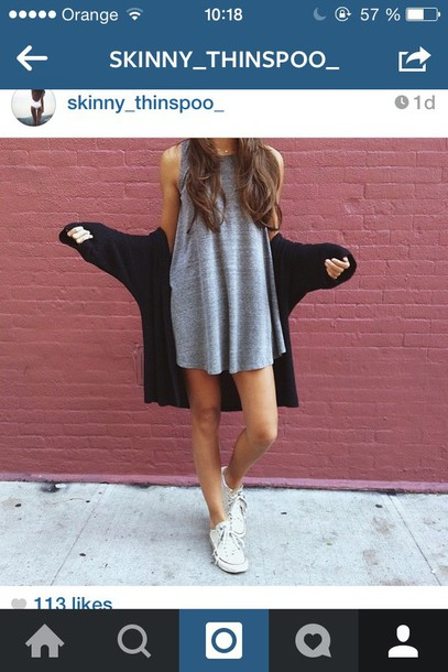 dress grey cardigan