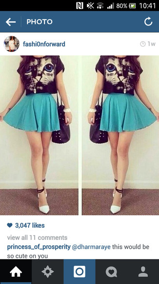 blue skirt high waisted skirt