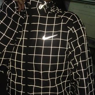 sweater black grid white nike black and white sweater grid sweater highlight black and white