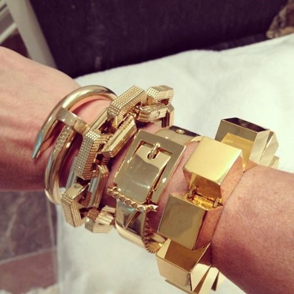 jewels gold gold bracelet bracelets jewelry statement bracelet