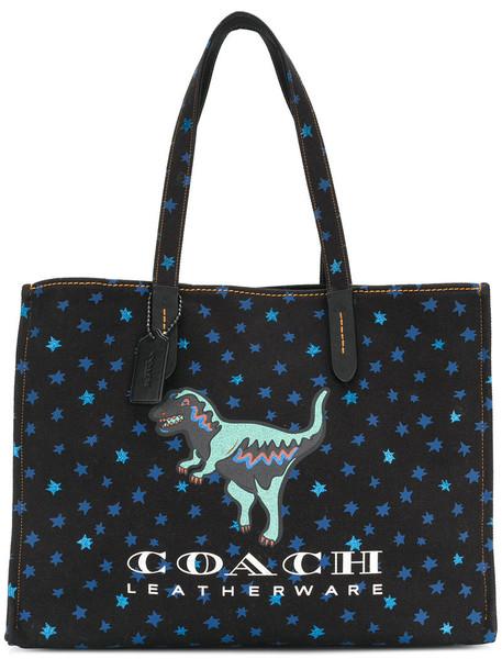 coach women bag tote bag cotton black