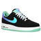 Nike air force 1 low - men's - basketball - shoes - black/shiny silver/green glow