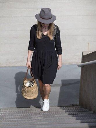 style and minimalism blogger sunglasses dress bag jewels