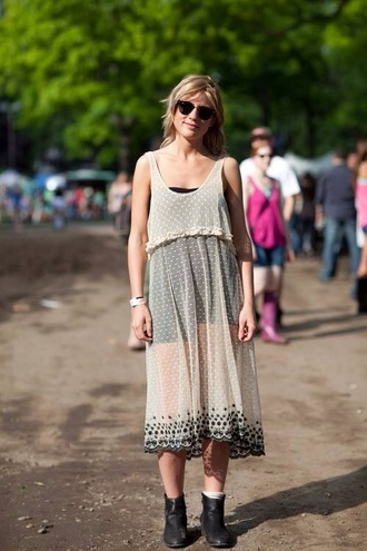 streetstyle zara topshop sheer see through pattern spot girly sheer dress see through dress