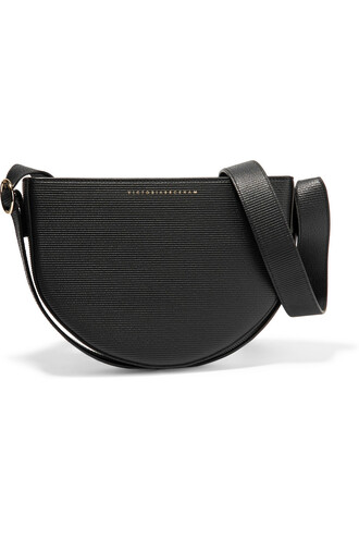 baby moon bag shoulder bag leather black