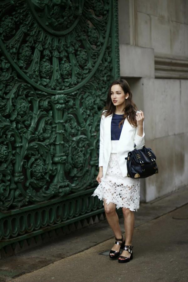 amoureuse de mode shoes top bag skirt jacket