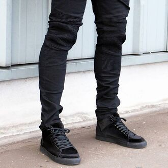 jeans maniere de voir black rib ribbed denim virtue