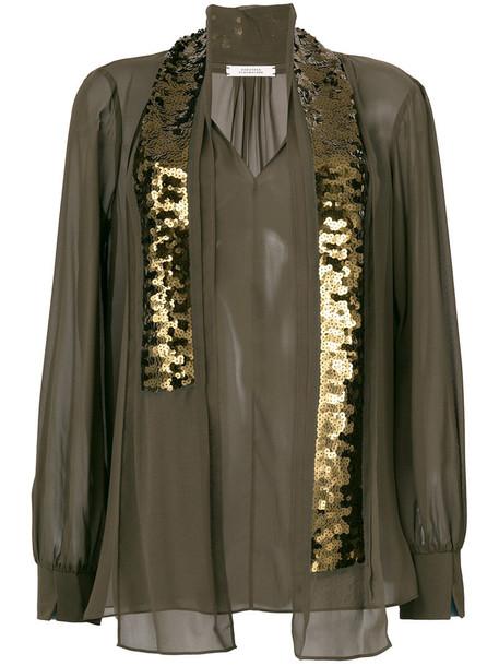 Dorothee Schumacher blouse women silk green top
