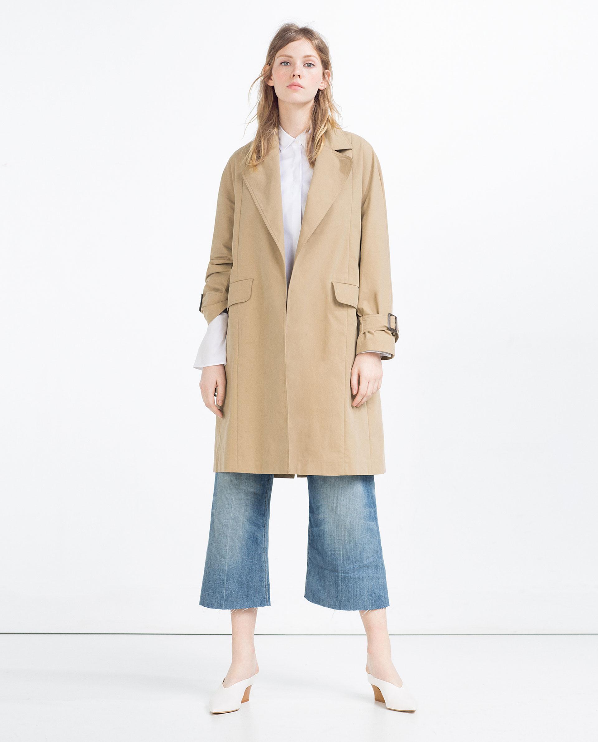 abrigo navy mujer zara
