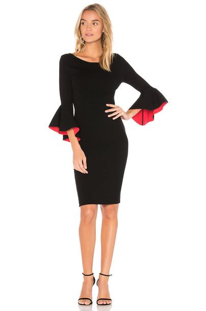 MILLY dress midi dress midi black