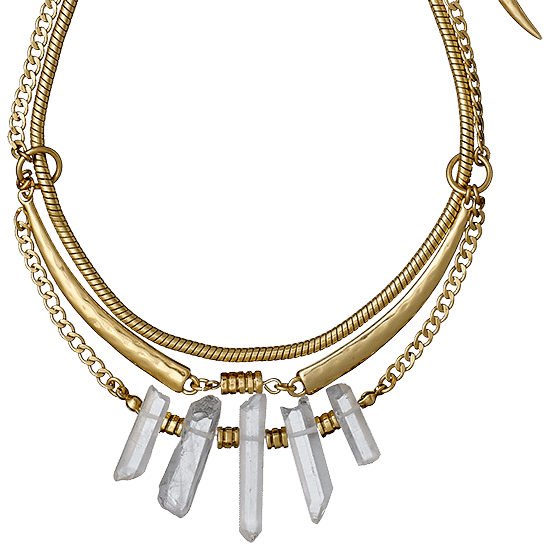 necklace, gold plated 40 cm