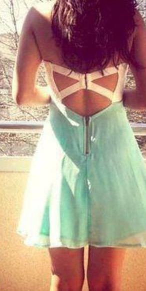 cross back dress cross back dress blue dress tumbr tumblr dress summer outfits summer dress
