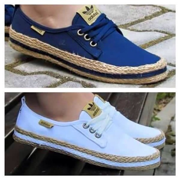 f38ab15334f0 shoes espadrilles adidas blue or white adidas shoes both colors