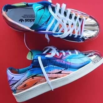shoes metal shell toe multicolor adidas adidas shell toe adidas superstars girl adidas sneaker low top sneakers adidas shoes heat sneakers jordans new steel toe colorful adidas originals