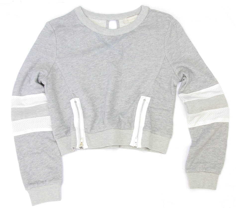 Sporty Chic Sweatshirt - Grey