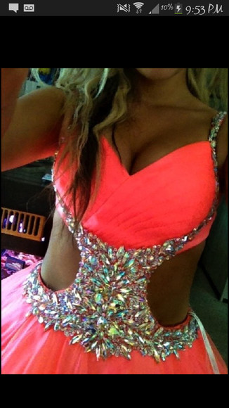 pink bright pink bright neon pink dress prom prom dress pink dress coral princess princess dress grad coral pink dress sparkly diamonds graduation dresses poofy dress neon pink dress bright pink dress