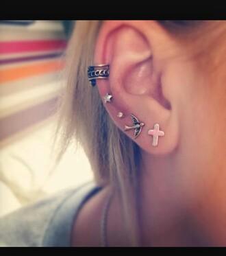 jewels jewelry earrings cross earring stud earrings