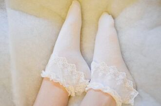 underwear socks white socks frilly frilly socks romantic girly ruffle