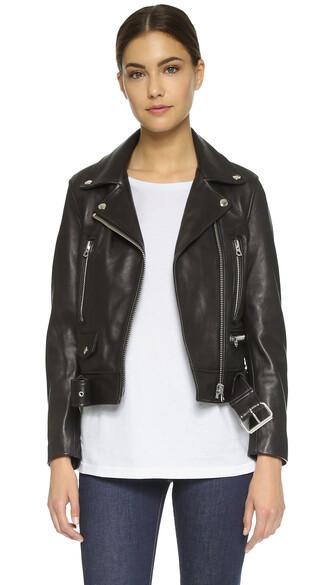 jacket leather black