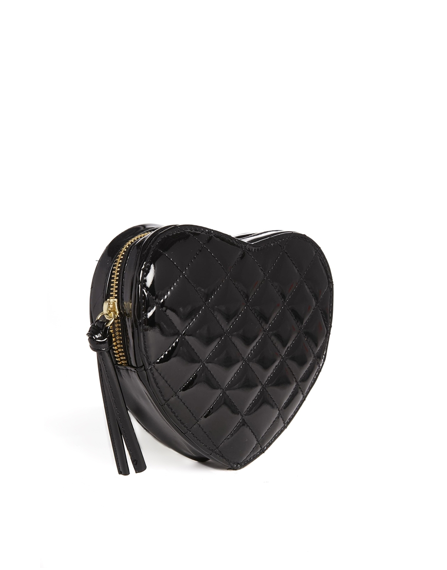 ASOS Quilted Heart Cross Body Bag at asos.com