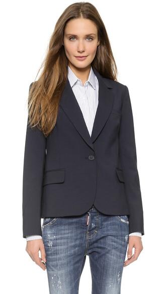 blazer dark navy jacket