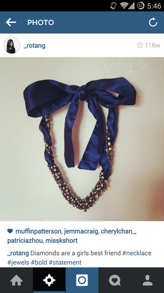 ribbon jewels statement